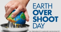 Ressourcenverbrauch - Earth Overshoot Day am 02.08.2017